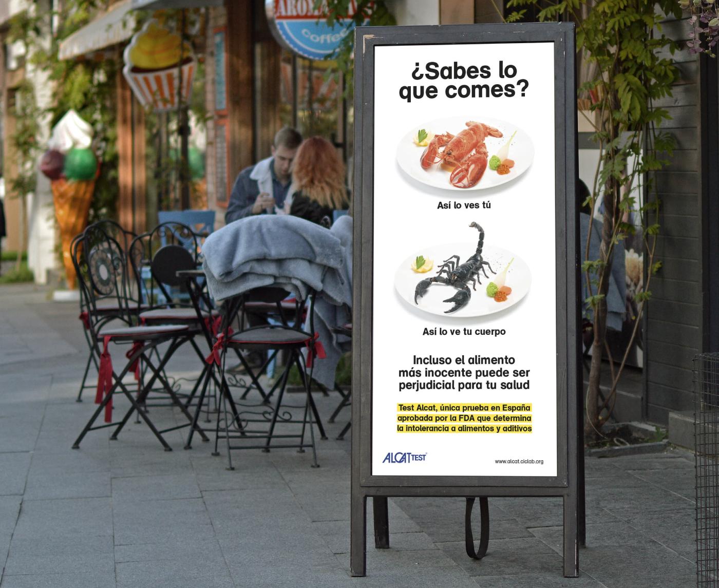 Creatividad Test alcat cic bogavante escorpion cartel