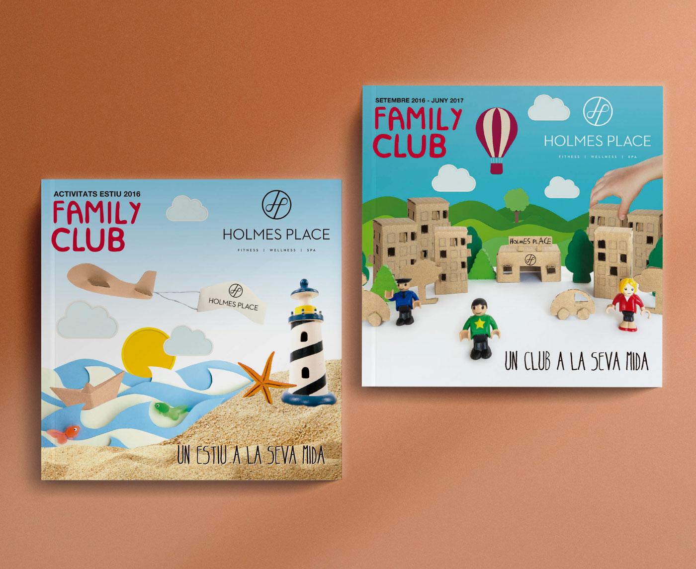 Diseño portadas folleto Family Club de Holmes Place