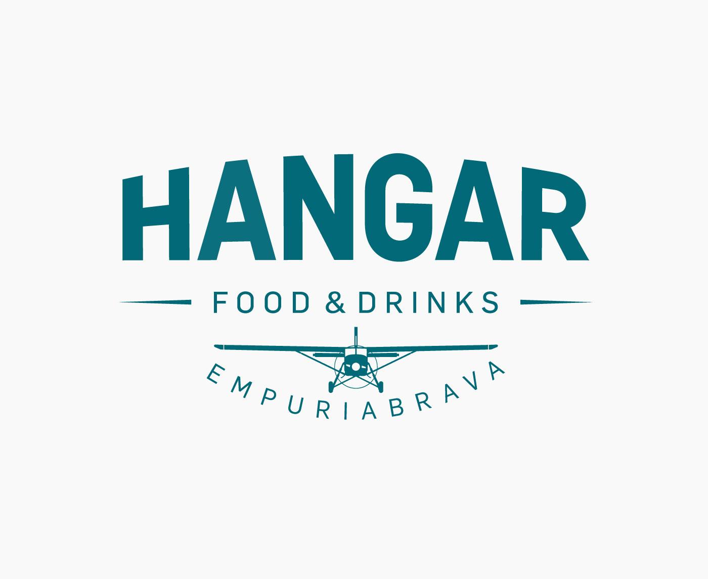Logotipo restaurante del aeródromo de Empuriabrava Hangar