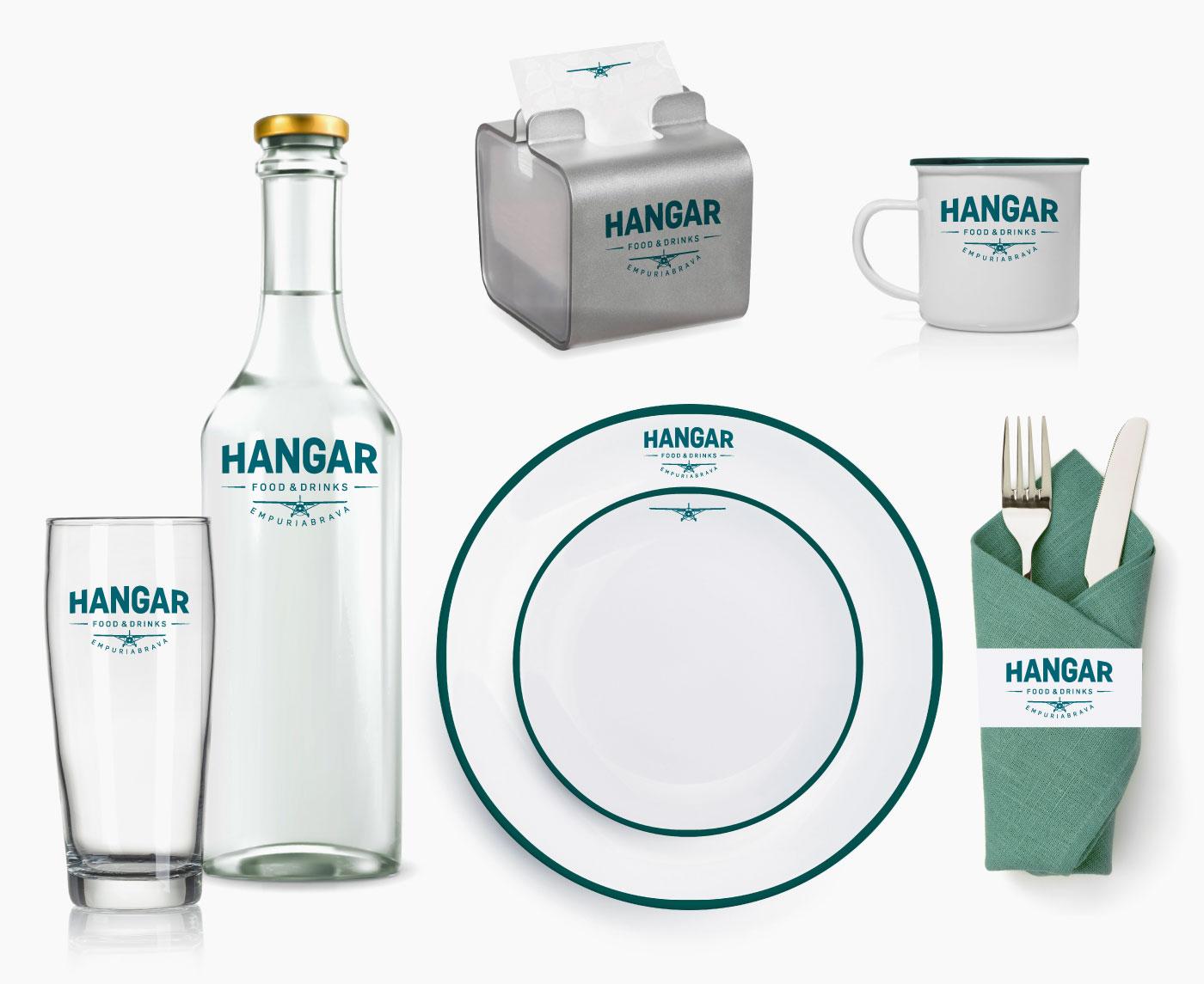 Identificación vajilla restaurante Hangar