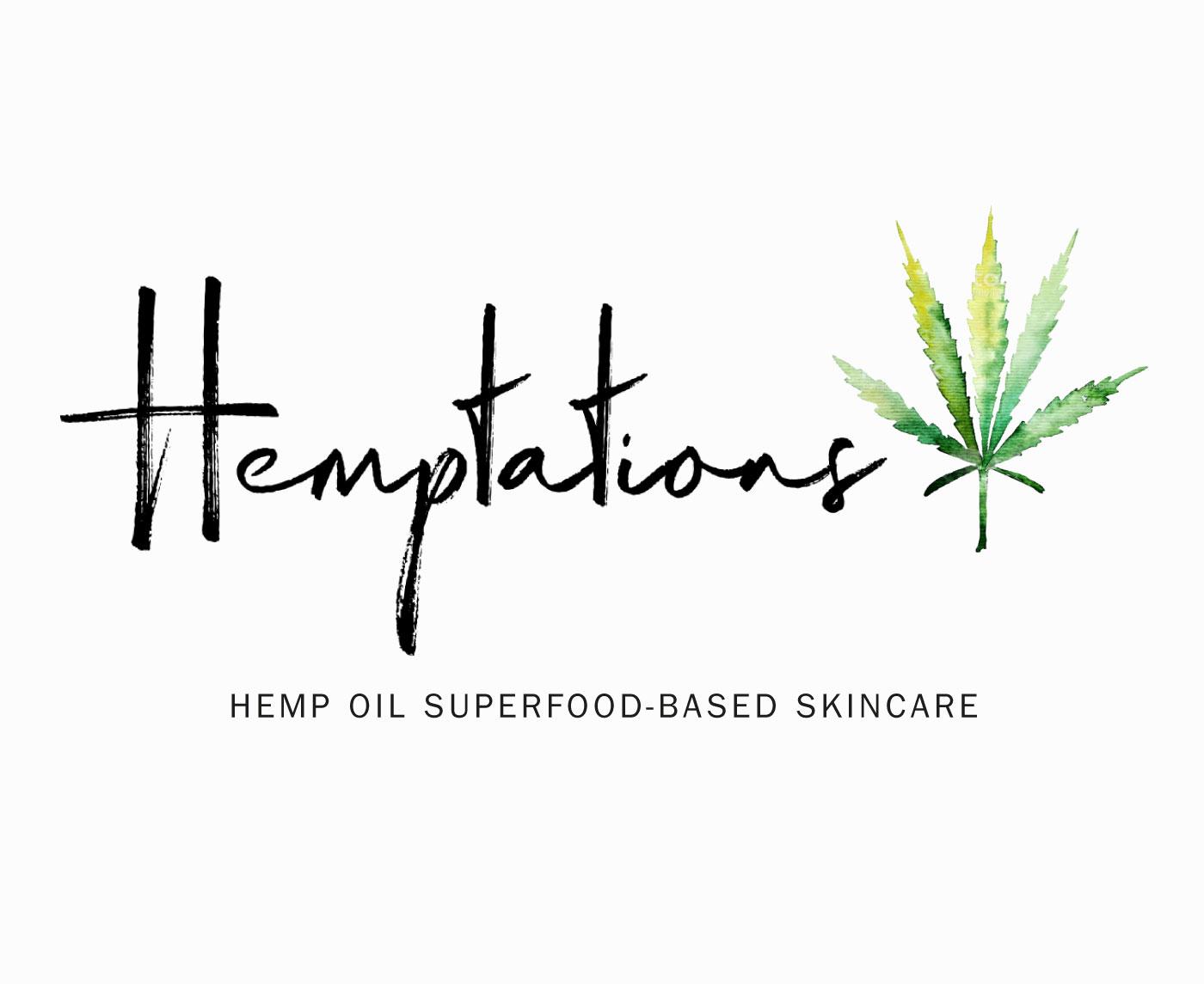 logotipo cosmético derivado del cannabis Hemptations