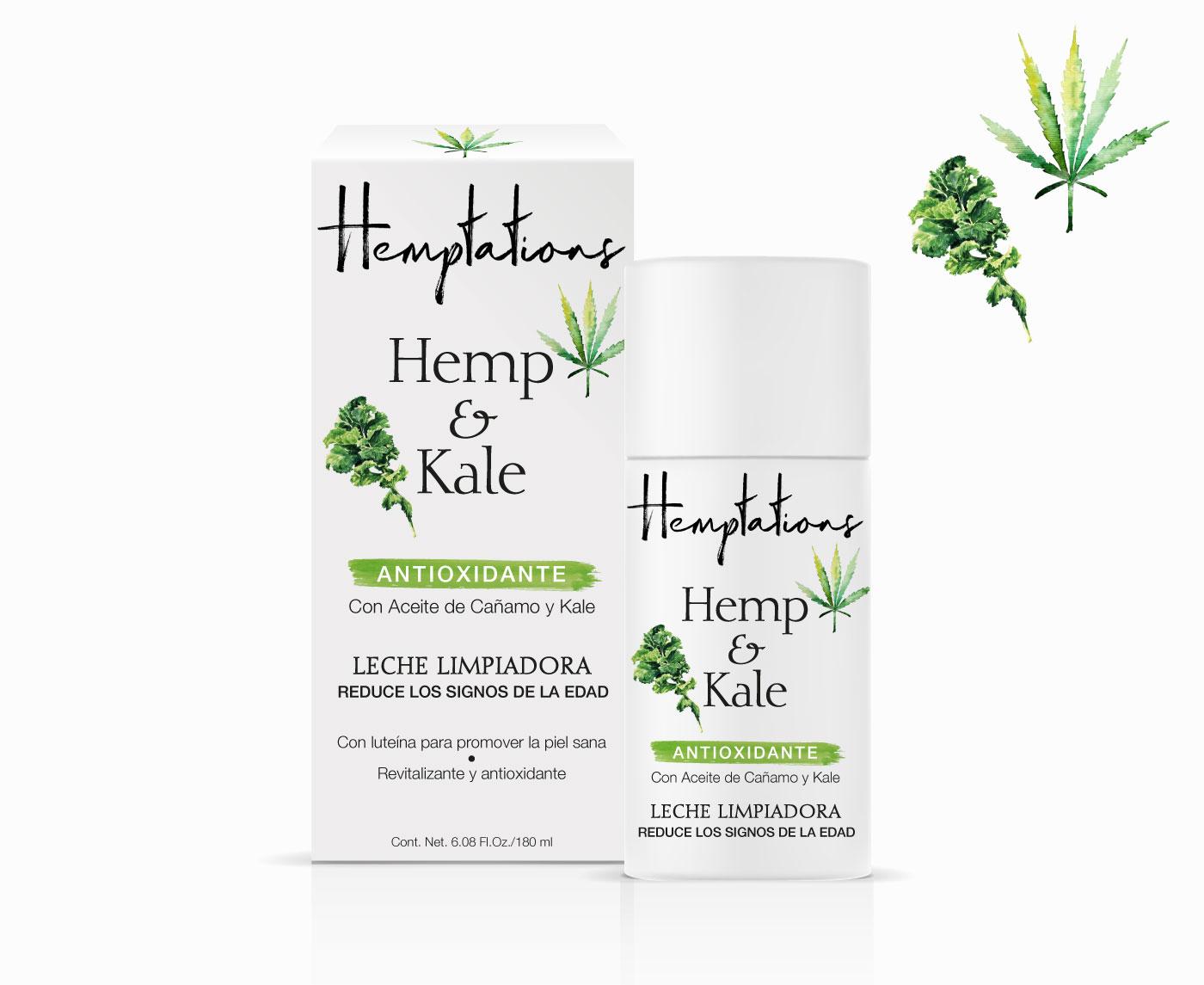 Packaging cosmético derivado del cannabis Hemptations