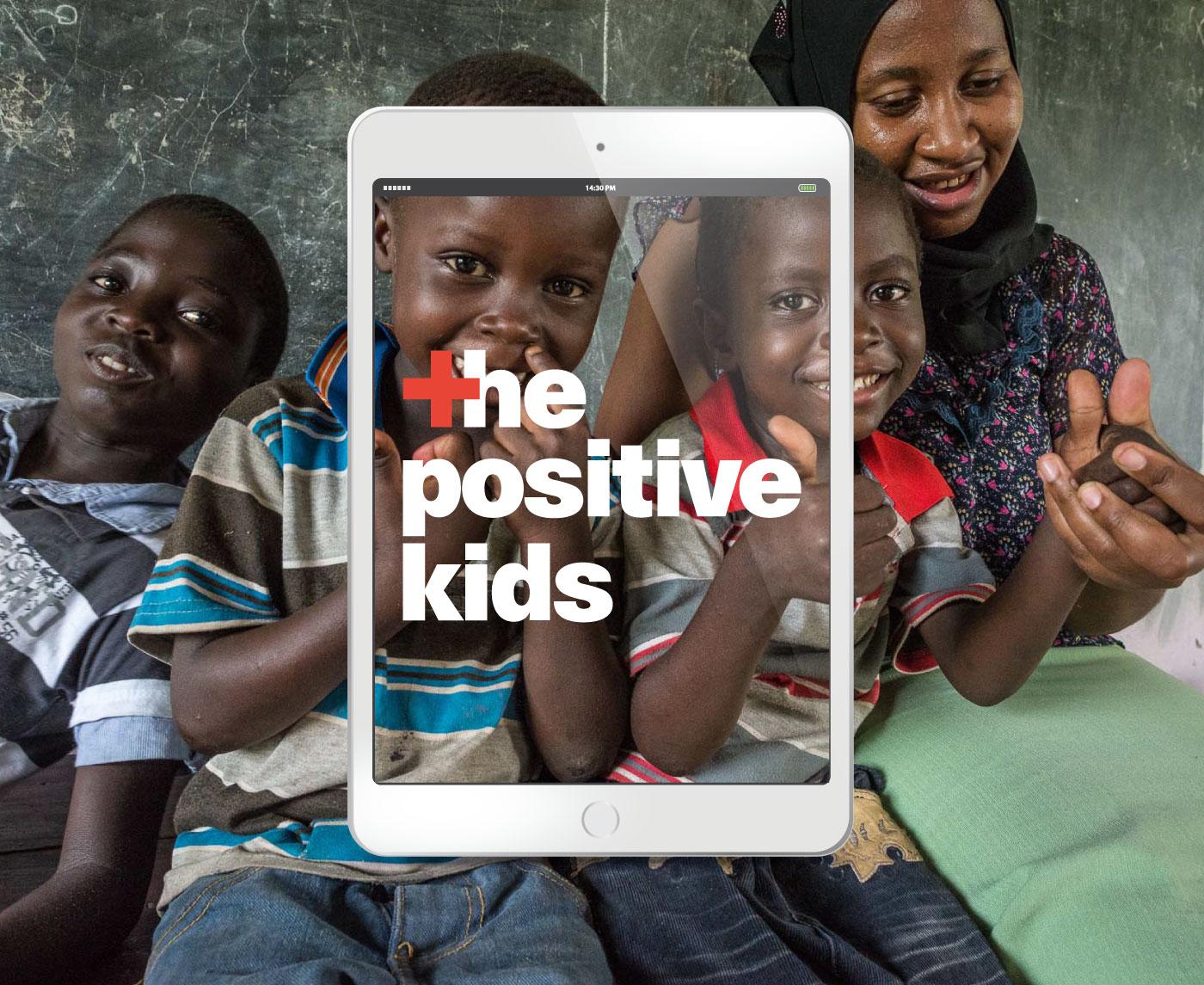 """Publicación digital interactiva del proyecto documental """"The Positive Kids"""" que narra las historias de varios niños que crecen con VIH en Tanzania."""